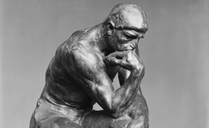 """A photo of """"The Thinker"""" by Auguste Rodin (sculpture)"""
